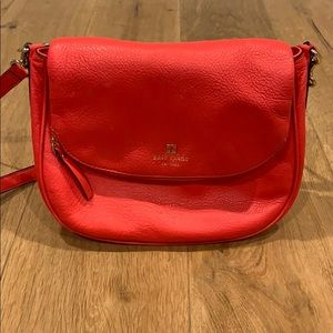 Coral Kate Spade Crossbody Leather Bag